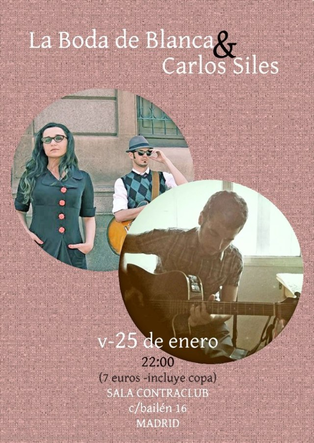 Cartel La Boda de Blanca y Carlos Siles