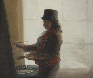 Autorretrato ante su caballete, Goya