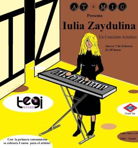 Cartel del concierto de Zaydulina de Atomic Bar