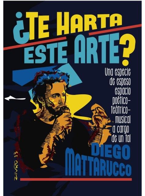 Cartel de Poesía Cacofónica de Diego Mattarucco