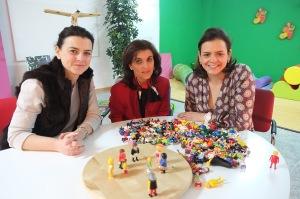 Las profesionales de Signo Positivo: Susana Vela, Carmen Ramos y Ana María Bernal